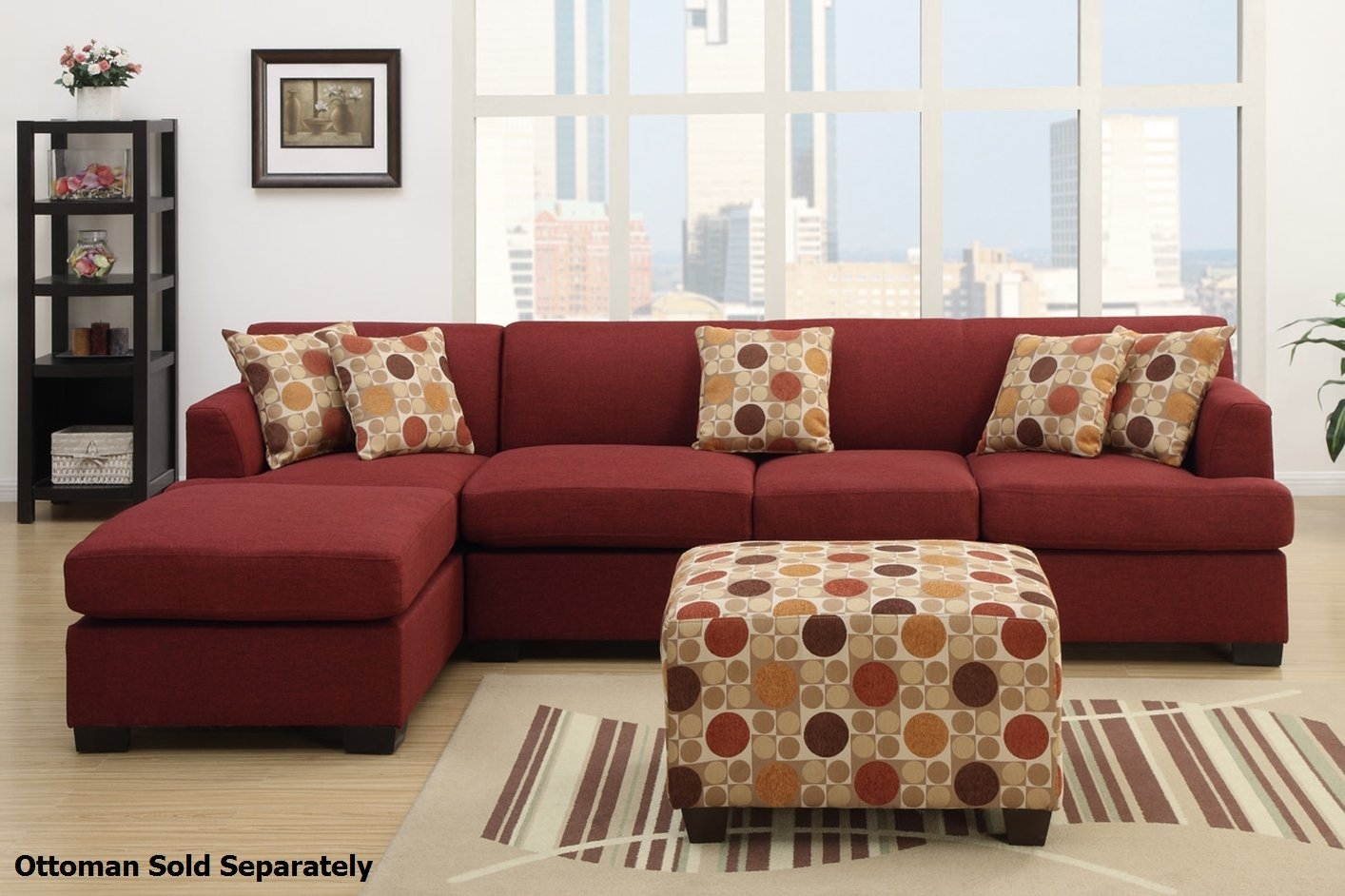 Montreal Iii Red Fabric Sectional Sofa – Steal A Sofa Furniture With Regard To Montreal Sectional Sofas (View 9 of 10)