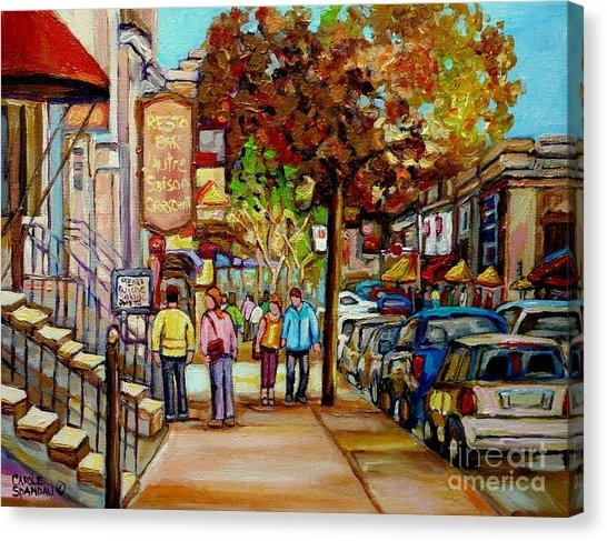Montreal Street Scene Canvas Prints (Page #4 Of 69) | Fine Art America Pertaining To Montreal Canvas Wall Art (View 15 of 15)