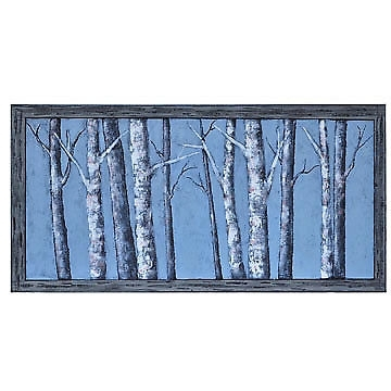 Moon Light Winter Birch Trees Canvas Wall Art 30 X 60 Inch | Ebay Intended For Birch Trees Canvas Wall Art (Image 9 of 15)