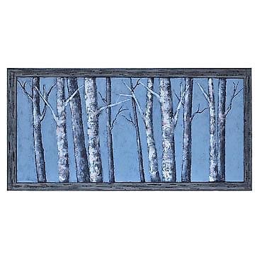 Moon Light Winter Birch Trees Canvas Wall Art 30 X 60 Inch | Ebay Intended For Birch Trees Canvas Wall Art (Image 9 of 15)