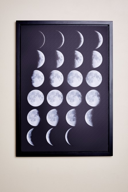 Moon Phases Framed Canvas Art – Earthbound Trading Co With Regard To Earthbound Canvas Wall Art (View 14 of 15)