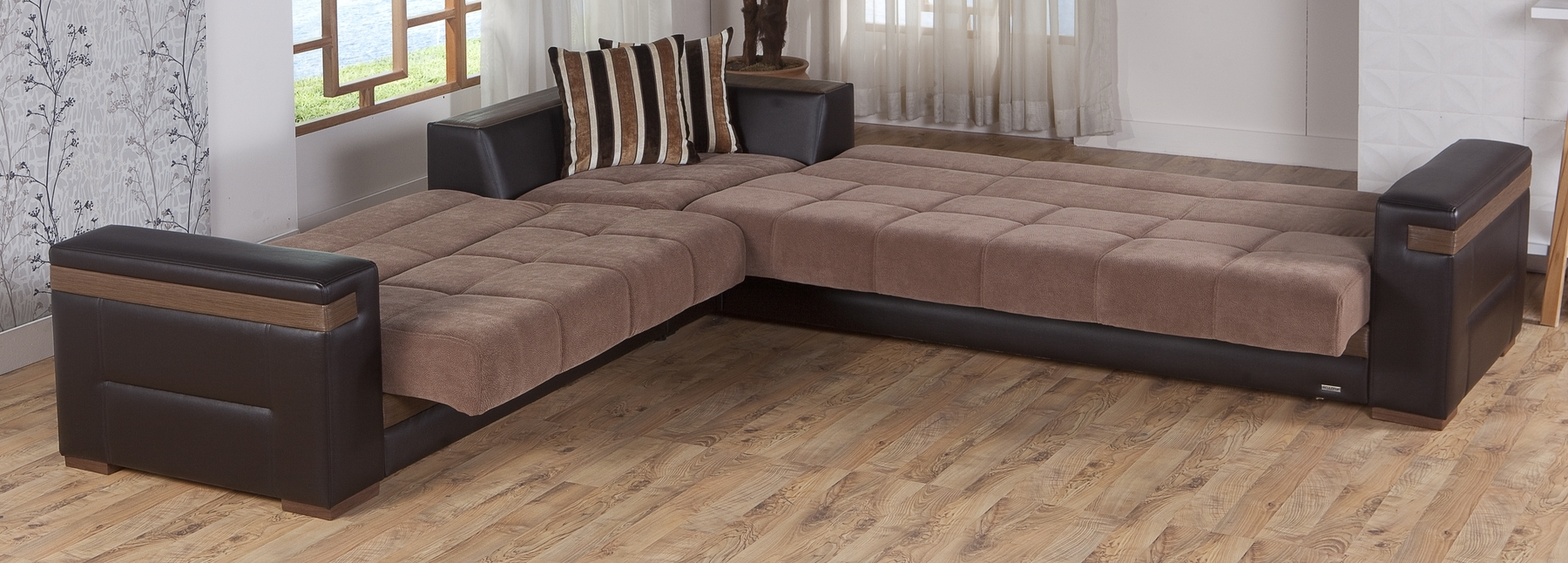Moon Troy Brown Sectional Sofa Moon Sunset Furniture Sectional Sofas Pertaining To Sectional Sofas In Stock (View 7 of 10)