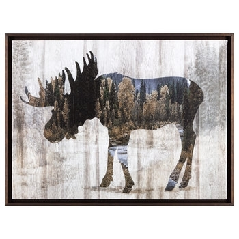 Moose Framed Canvas Wall Decor | Hobby Lobby | 1301506 Pertaining To Canvas Wall Art At Hobby Lobby (View 12 of 15)