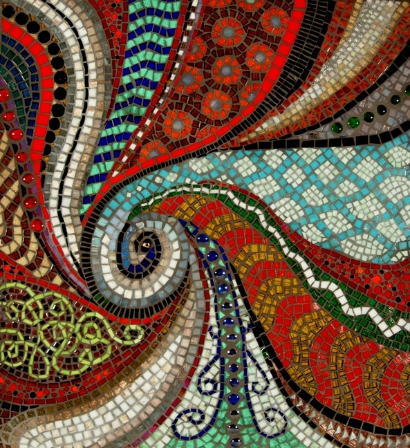 Mosaic Artists Gallery Photos Of Abstract Mosaics – Showcase Mosaics Throughout Abstract Mosaic Wall Art (Image 11 of 15)