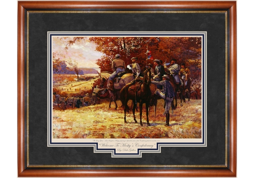 Mosby's Confederacy Welcome To Print – Prints – Art Reproductions Intended For Confederate Framed Art Prints (View 7 of 15)