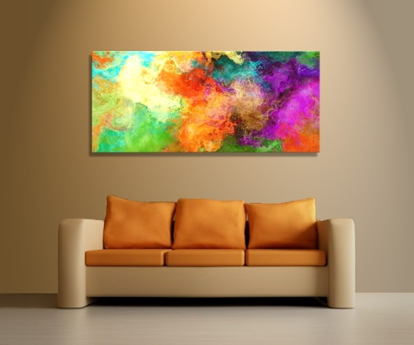 """Mother Earth"""" Abstract Art Mixed Media Painting – Regarding Abstract Canvas Wall Art Iii (View 10 of 15)"""