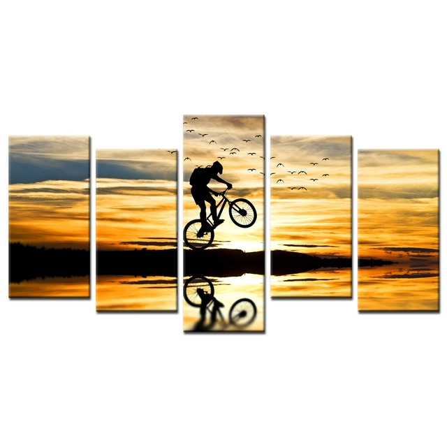 Mountain Bike Racing Canvas Wall Art Bike Jump Poster Prints Throughout Jump Canvas Wall Art (Photo 10 of 15)