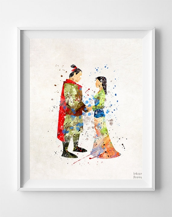 Mulan Poster, Mulan Art, Mulan Print, Disney Princess, Mulan Intended For Disney Framed Art Prints (View 12 of 15)