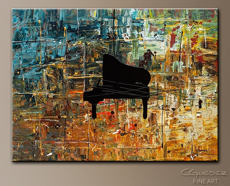 Music Art Piano Impromptu – Jazz Abstract Paintings For Sale Intended For Abstract Piano Wall Art (Image 12 of 15)