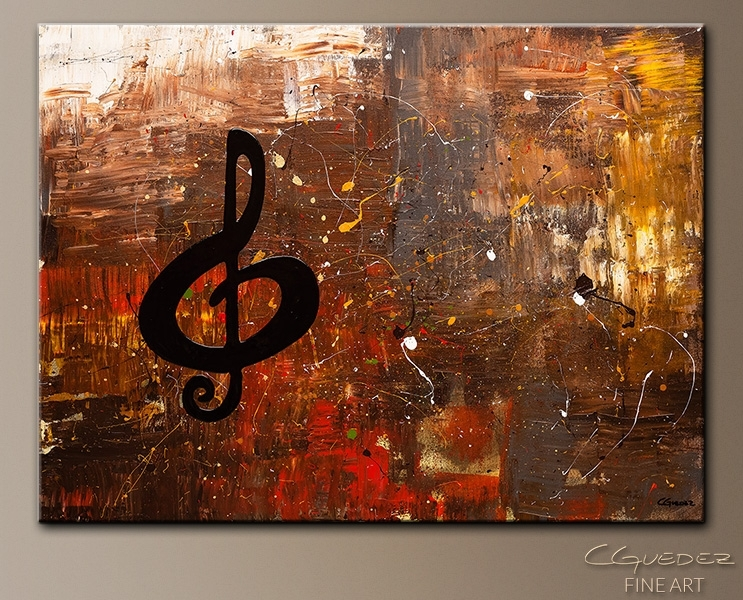 Music For The Soul Music Art/jazz Wall Art Paintings For Sale With Regard To Abstract Piano Wall Art (Image 13 of 15)