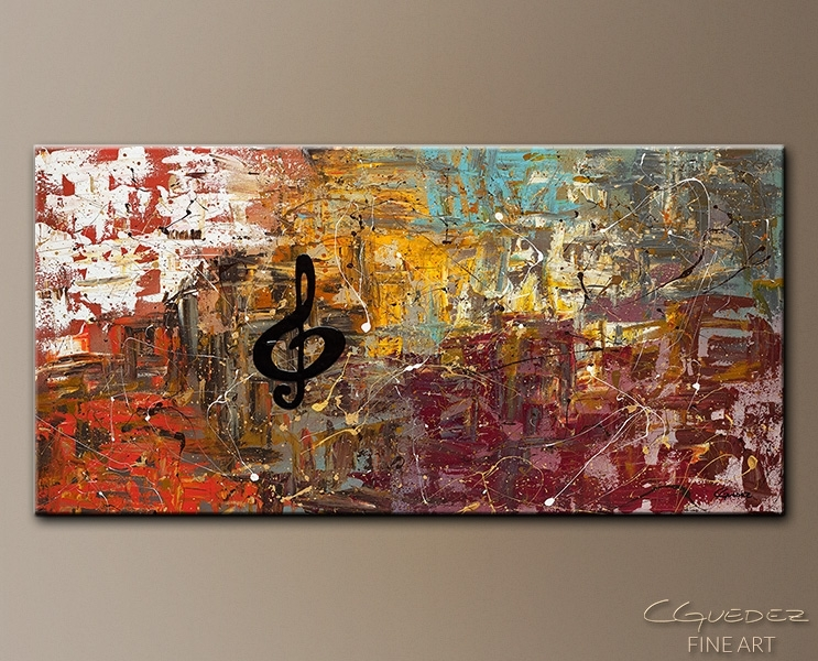 Featured Image of Abstract Music Wall Art