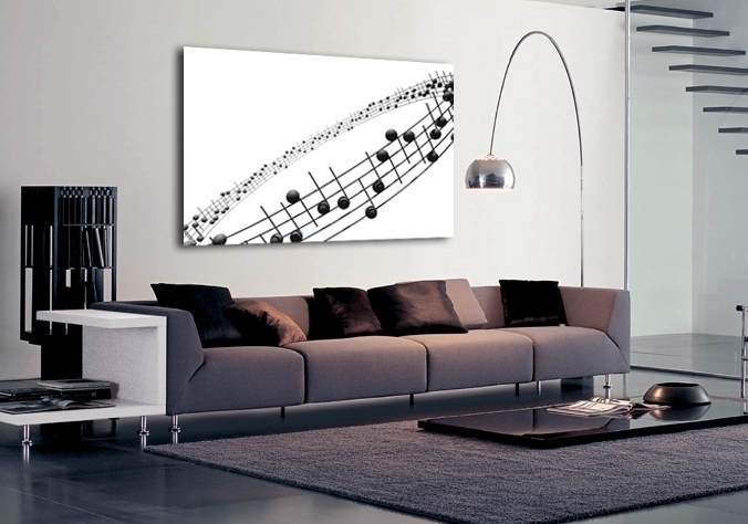 Musical Notes With Abstract Music Wall Art (Image 12 of 15)