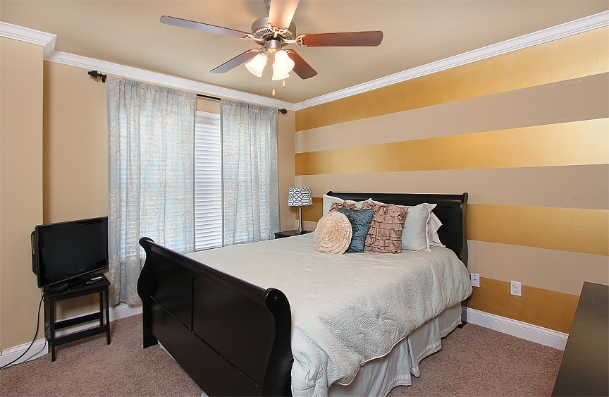 My Bedroom Made The Website!! My Very Own Striped Metallic Accent With Regard To Stripe Wall Accents (Image 8 of 15)