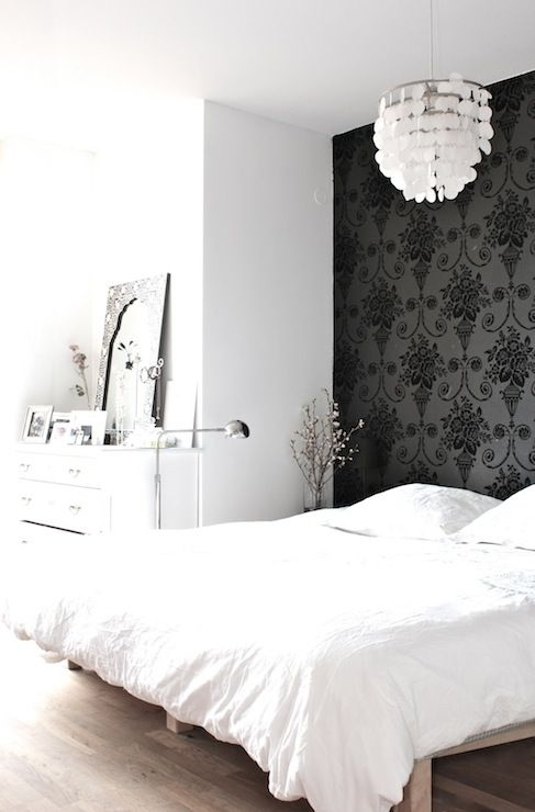 My Scandinavian Home – Bedrooms – Black And White Bedroom, Bedroom With Regard To Wallpaper Bedroom Wall Accents (Image 5 of 15)