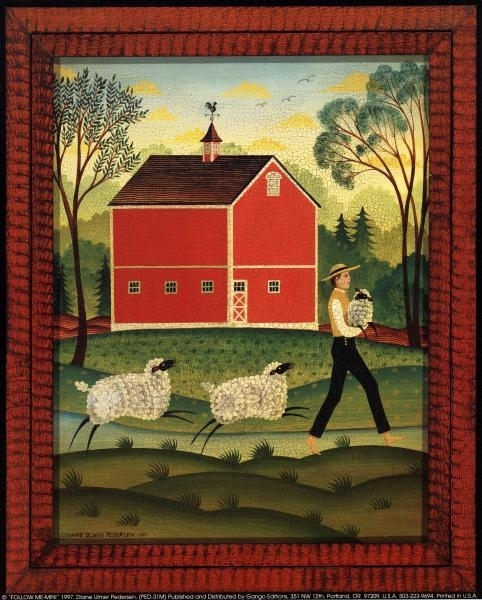 My Sheep / Follow Me | American Folk Art Painting – Diane Ulmer Inside American Folk Art Framed Prints (View 15 of 15)