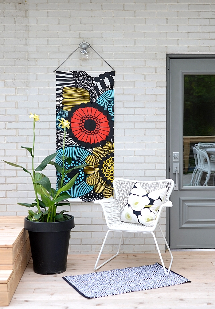 Nalle's House: Diy Outdoor Art Pertaining To Outdoor Fabric Wall Art (Image 10 of 15)