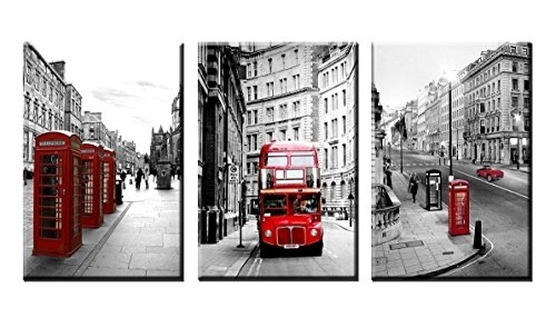 Nan Wind Modern Wall Art Painting Framed London Landscape Canvas Intended For Canvas Wall Art Of London (View 9 of 15)