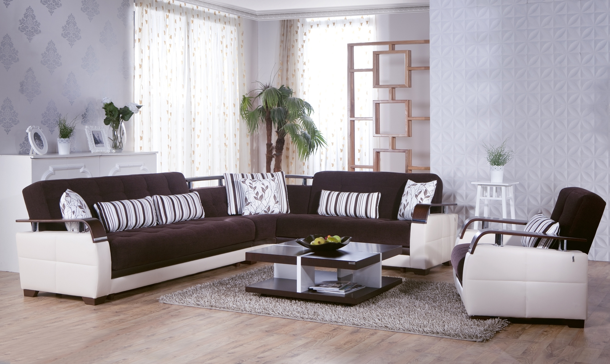 Natural Colins Brown Sectional Sofasunset | Brown Sectional Sofa With Regard To El Dorado Sectional Sofas (View 8 of 10)
