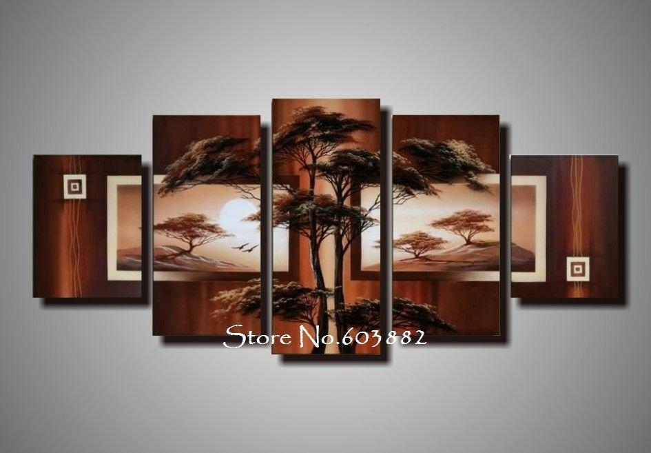 Natural Natural Scenery 100% Hand Painted Oil Wall Art Canvas Art Within Hand Painted Canvas Wall Art (View 14 of 15)