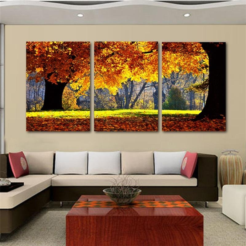 Nature Canvas Art Painting Scenery Pattern For Living Room Wall Inside Nature Canvas Wall Art (Image 7 of 15)