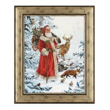Nature Walk Santa Framed Art Print | Kirklands | Christmas Decor In Christmas Framed Art Prints (View 6 of 15)