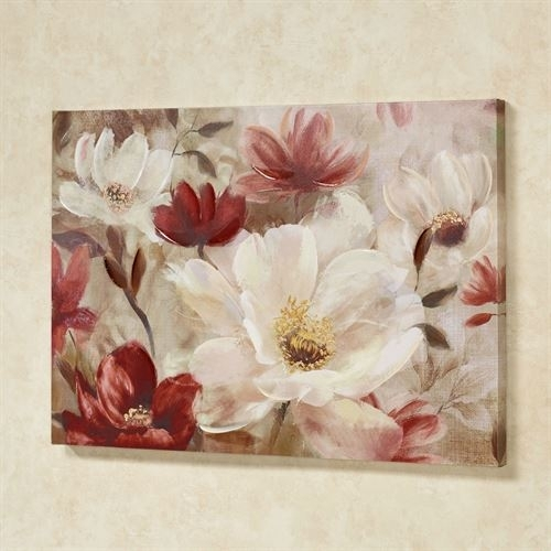 Natures Jewels Floral Canvas Wall Art With Canvas Wall Art Of Flowers (Image 12 of 15)