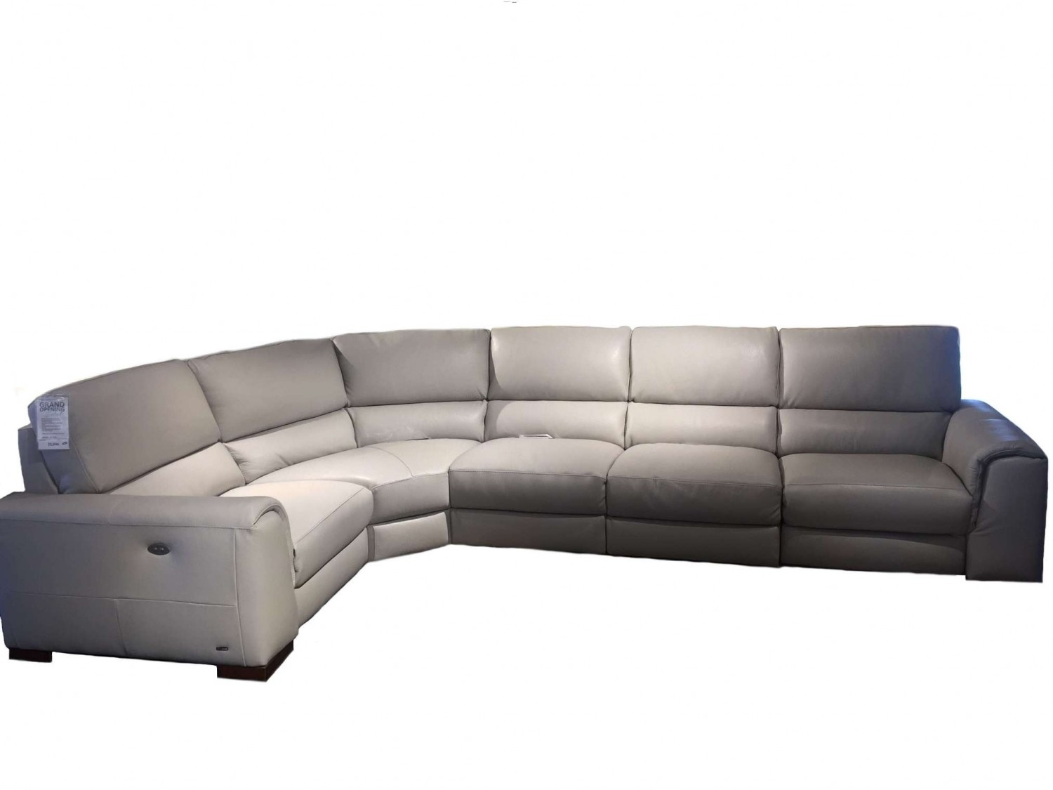 Natuzzi Editions Davide Leather Sectional | Leather Sectional Throughout Natuzzi Sectional Sofas (Image 3 of 10)