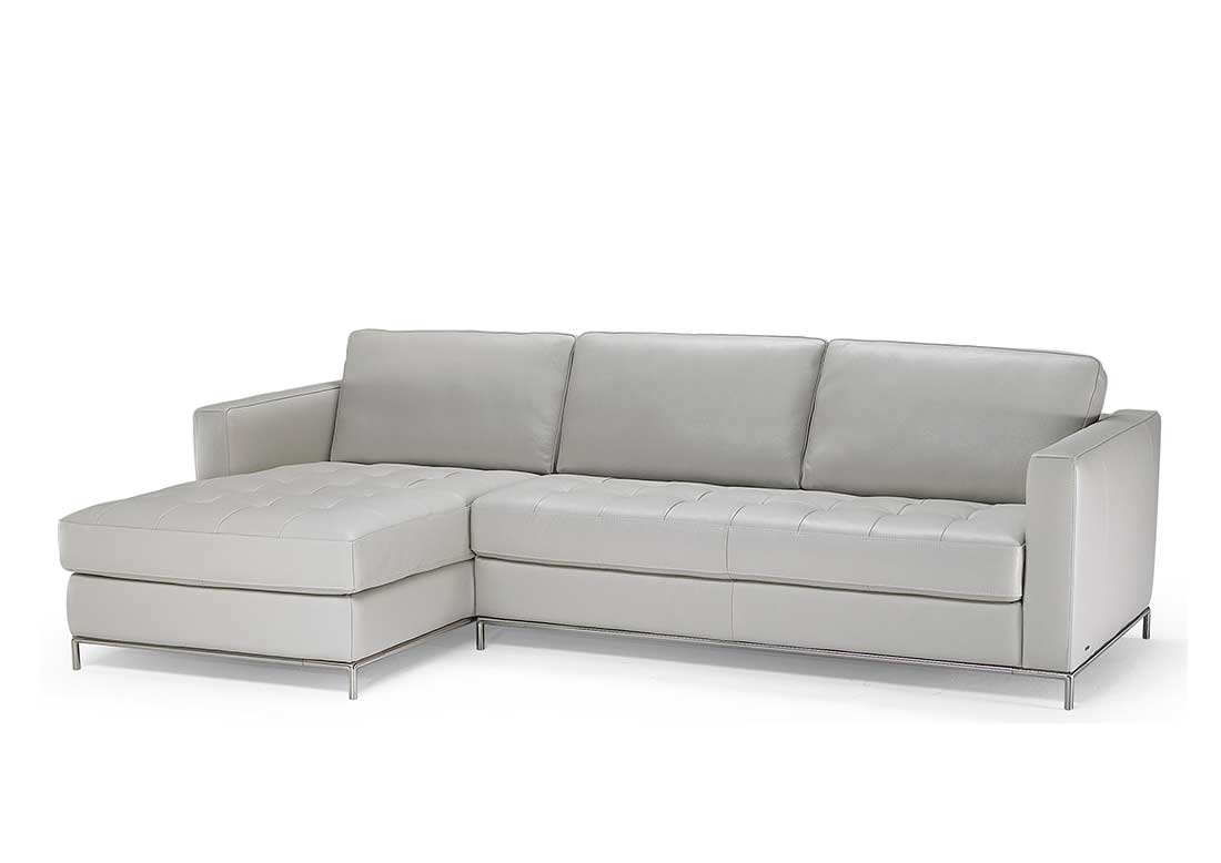 Natuzzi Grey Top Grain Leather Sectional Sofa B805 | Natuzzi Sofa Inside Natuzzi Sectional Sofas (Image 4 of 10)