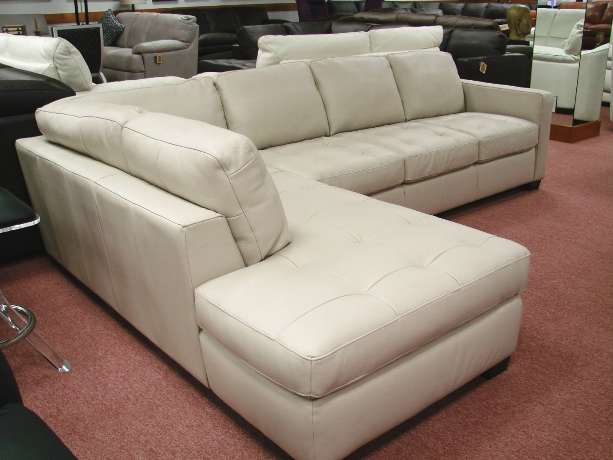Natuzzi White Leather Sectional Sofa For Natuzzi Sectional Sofas (View 2 of 10)