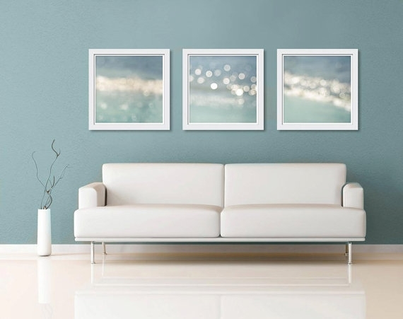 Nautical Decor Wall Art Print Set 16X16 Ocean Abstract Light Pertaining To Abstract Nautical Wall Art (View 6 of 15)