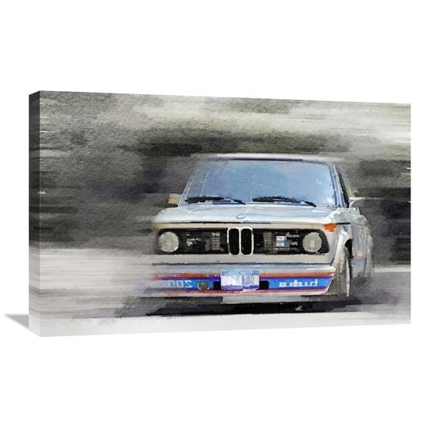 Naxart Studio '1974 Bmw 2002 Turbo Watercolor' Stretched Canvas With Bmw Canvas Wall Art (Image 10 of 15)