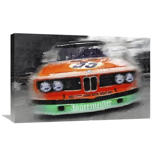 Naxart Studio 'bmw Front End Watercolor' Stretched Canvas Wall Art With Bmw Canvas Wall Art (Image 11 of 15)