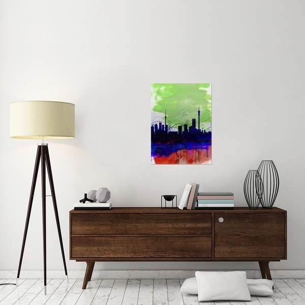 Naxart Studio 'johannesburg Watercolor Skyline' Stretched Canvas Intended For Johannesburg Canvas Wall Art (View 15 of 15)