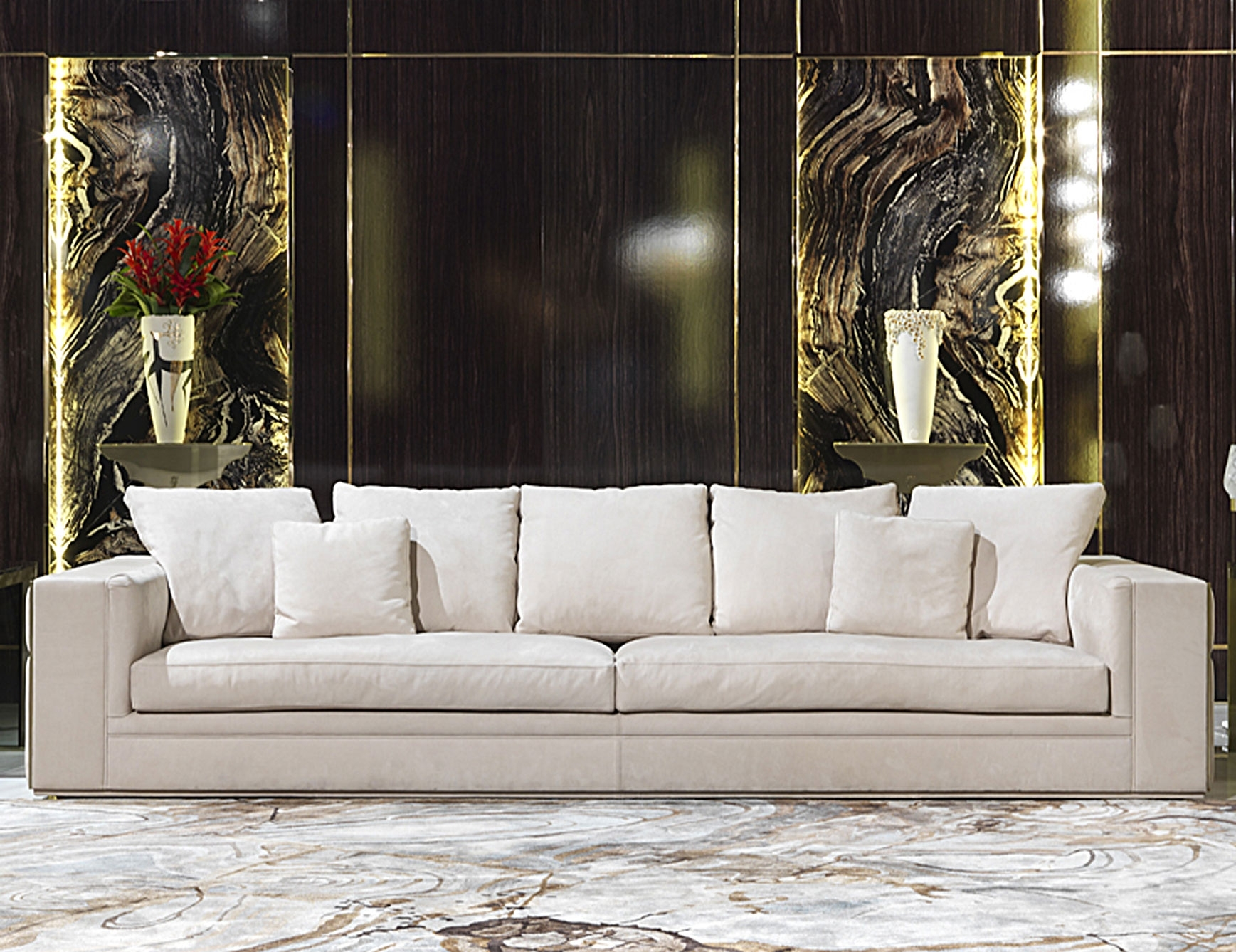 Nella Vetrina Visionnaire Ipe Cavalli Babylon Luxury Italian Sofa With Regard To Luxury Sofas (Image 7 of 10)