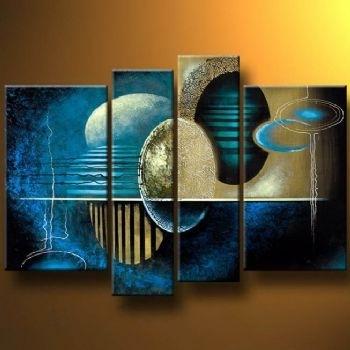 Neon World Modern Canvas Art Wall Decor Abstract Oil Painting Wall For Abstract Neon Wall Art (Image 15 of 15)