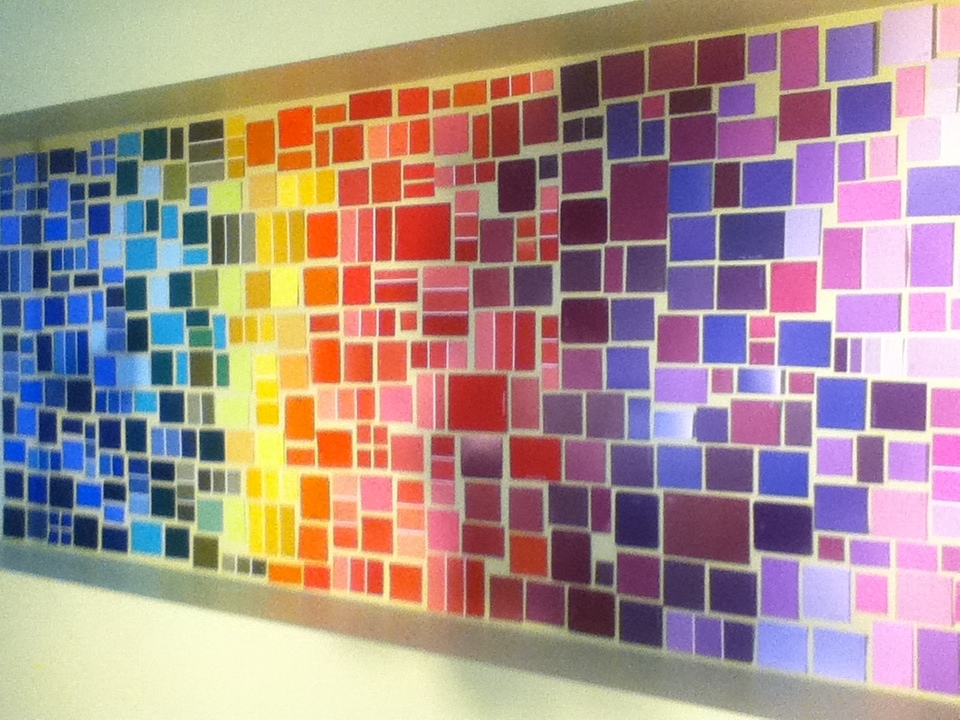 Never Buy Paint Again!! Cover Your Wall In A Creative Art Master Inside Fabric Swatch Wall Art (Image 14 of 15)