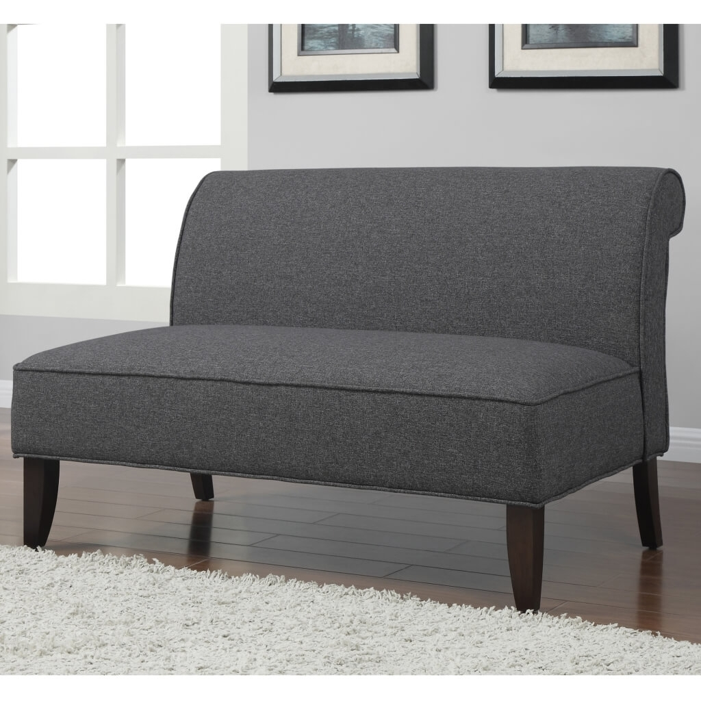 New Armless Loveseat Settee 48 In Sofa Table Ideas With Armless Regarding Small Armless Sofas (Image 4 of 10)
