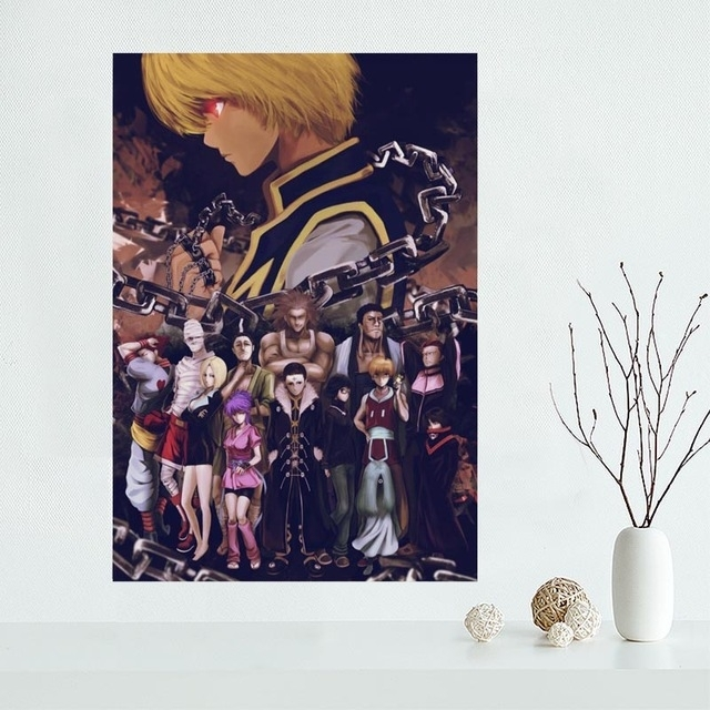 New Arrival Custom Hunter X Hunter Anime Canvas Painting Poster Inside Silk Fabric Wall Art (View 8 of 15)