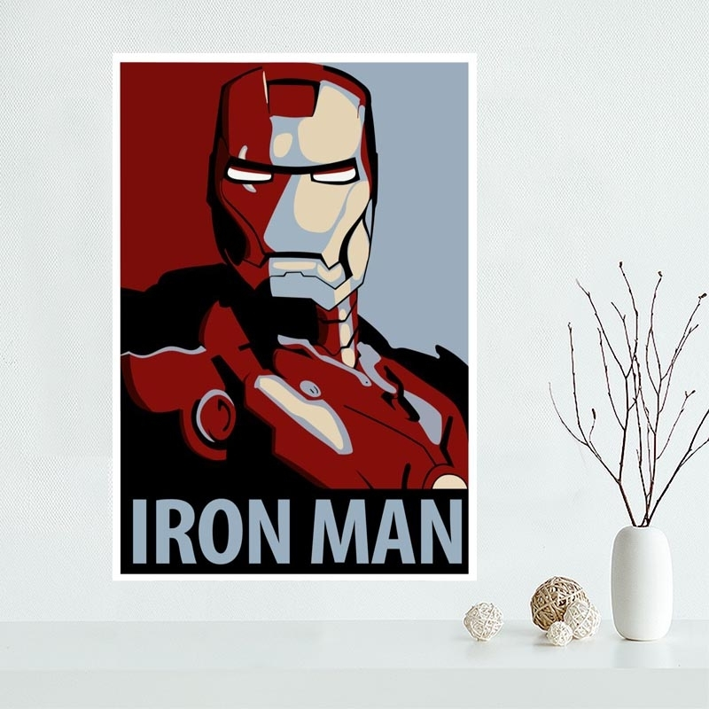 New Arrival Custom Iron Man Canvas Poster Home Decoration Wall Art Regarding Iron Fabric Wall Art (Image 12 of 15)