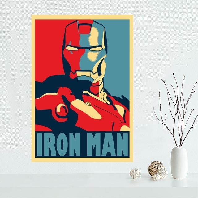 New Arrival Custom Iron Man Canvas Poster Home Decoration Wall Art With Regard To Iron Fabric Wall Art (Image 13 of 15)