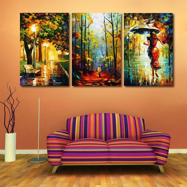 New Arrival Modular Modern Home Decor Canvas Art Abstract Oil Regarding Abstract Oil Painting Wall Art (Image 10 of 15)
