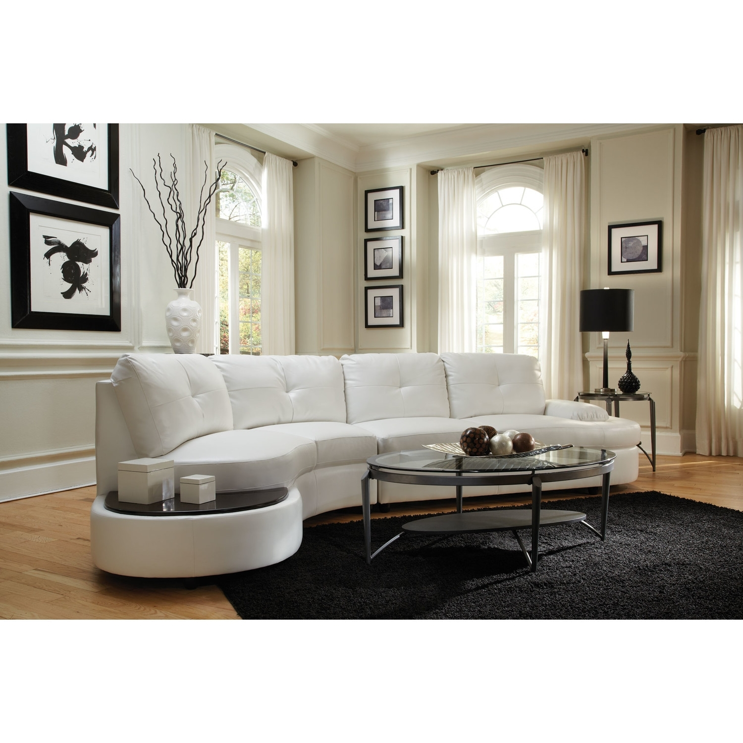 New Cheap White Leather Sectional Sofa 89 In Sectional Sofas Intended For Rochester Ny Sectional Sofas (Image 8 of 10)