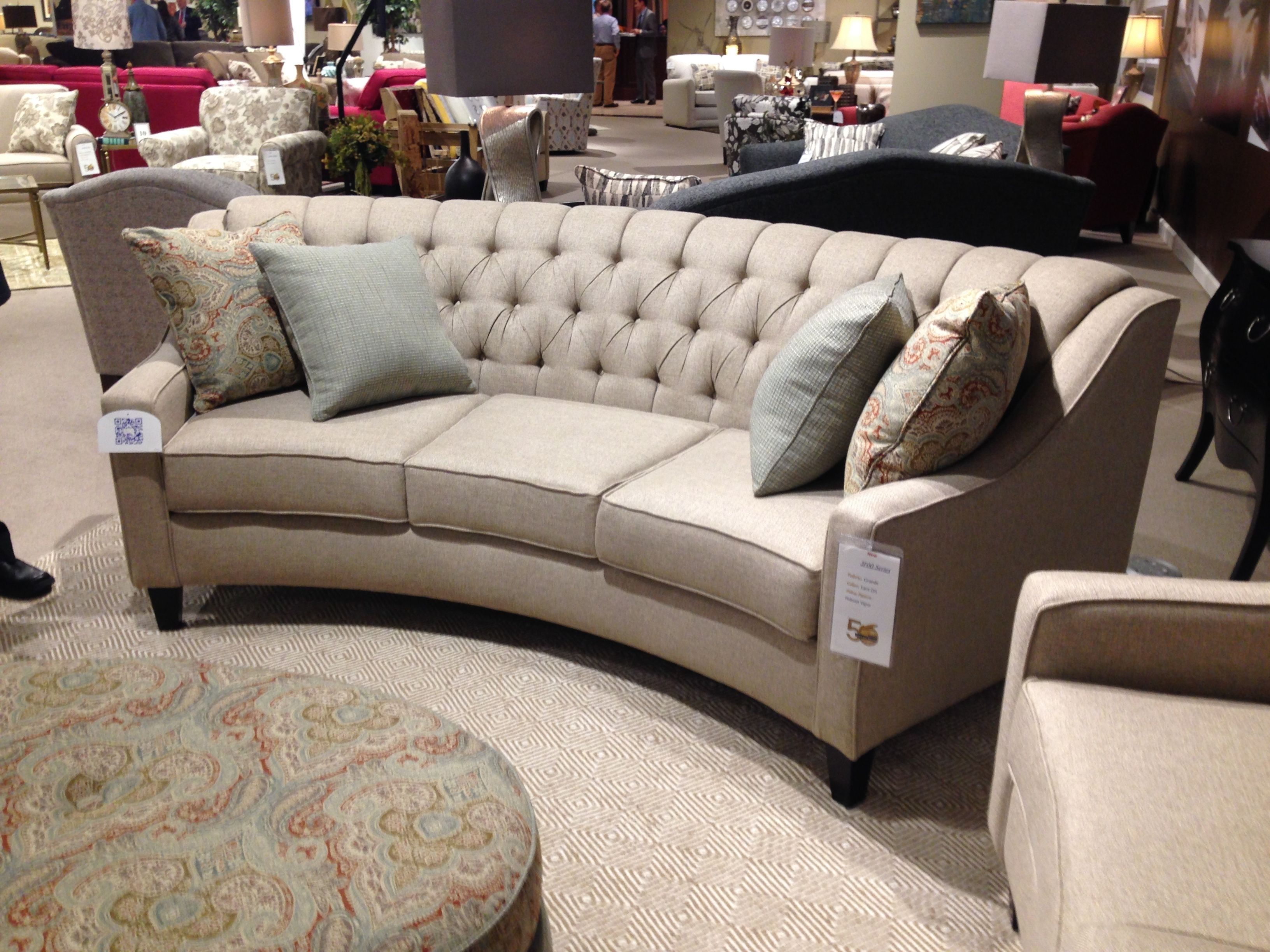 New Curved Sofa From England Furniture. Comes In 3 Sizes! Highpoint with regard to England Sectional Sofas