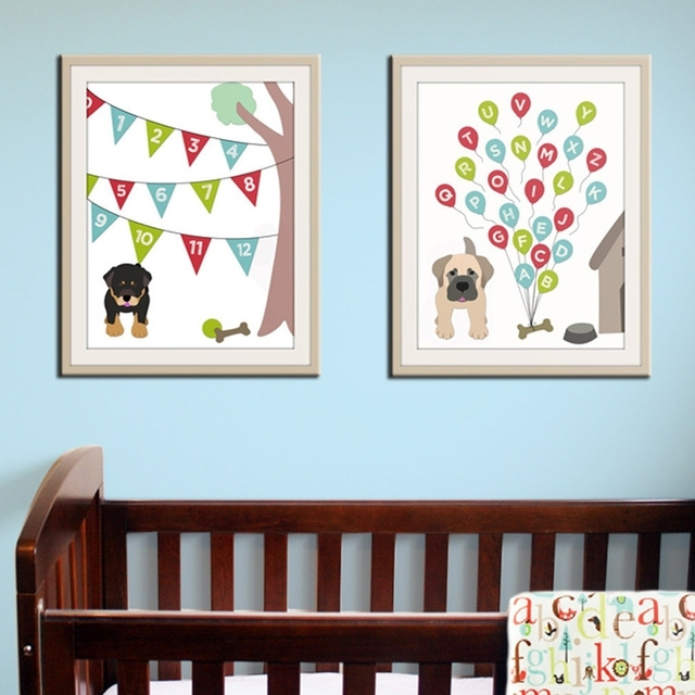 Featured Image of Modern Nursery Canvas Wall Art