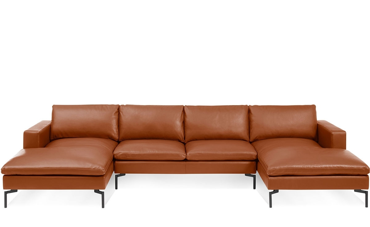 New Standard U Shaped Leather Sectional Sofa - Hivemodern in U Shaped Leather Sectional Sofas