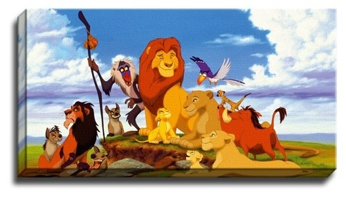 New The Lion King Canvas Wall Art Picture / Print / Poster | Ebay throughout Lion King Canvas Wall Art