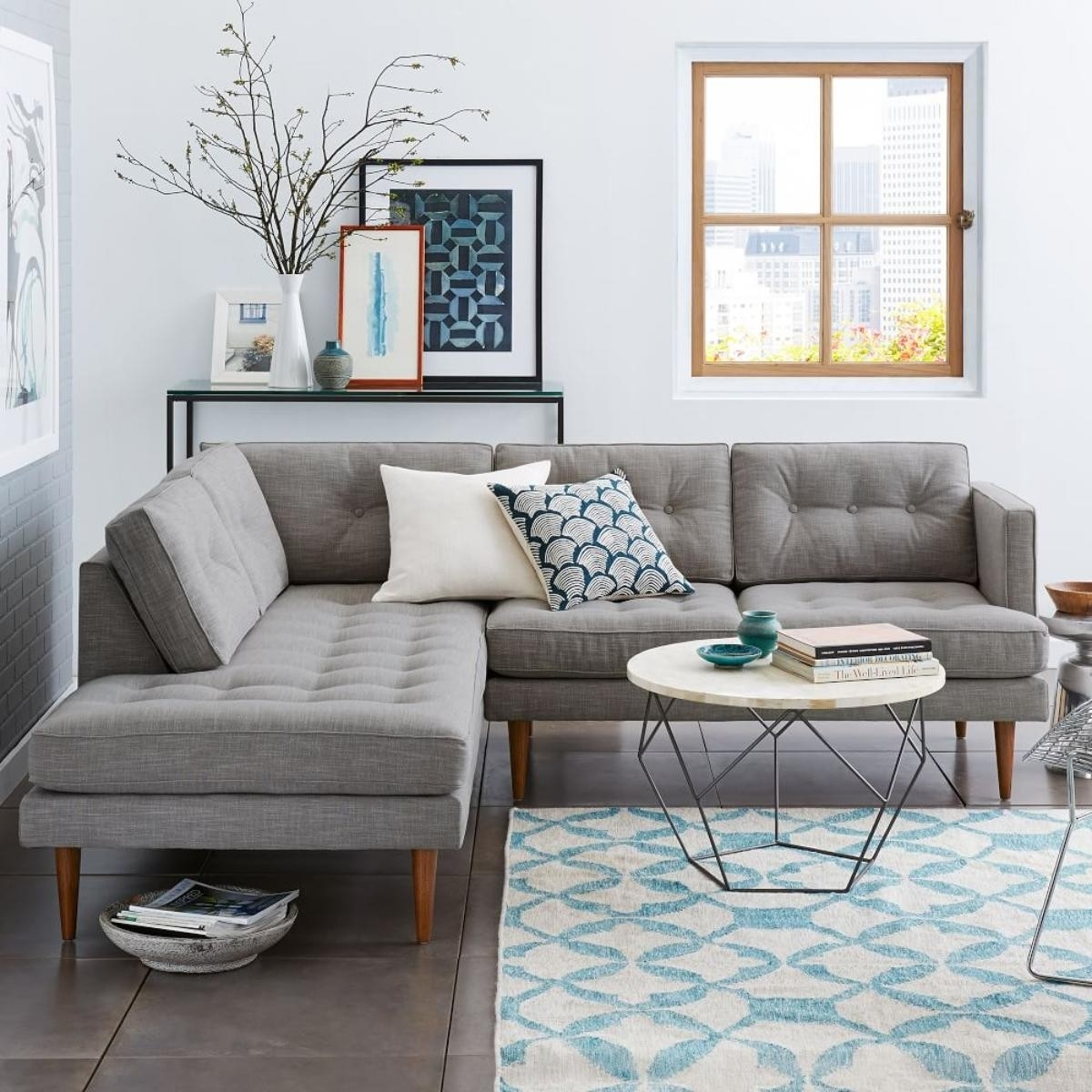 New West Elm Sectional Sofa - Buildsimplehome intended for West Elm Sectional Sofas