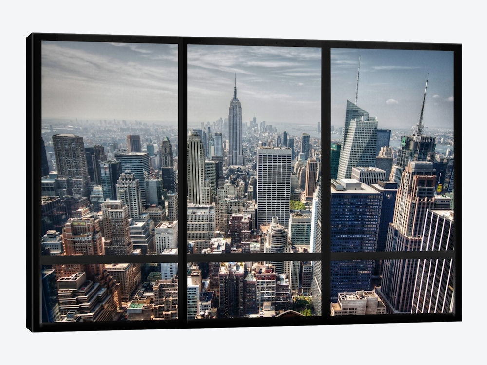 New York City Skyline Window View Art Printicanvas | Icanvas In Canvas Wall Art Of New York City (View 6 of 15)