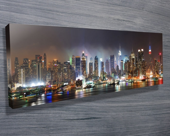 New York Skyline – Canvas Prints Australia Throughout Canvas Wall Art In Melbourne (View 3 of 15)