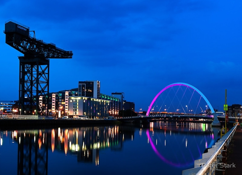 Night Reflections – Glasgow Titan And Squinty Bridge (View 11 of 15)